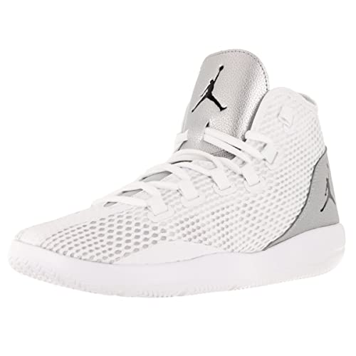 71efe236fb741a Nike Men s Jordan Reveal White Black Metallic Silver Infrared 23 Mid-Top  Mesh Basketball
