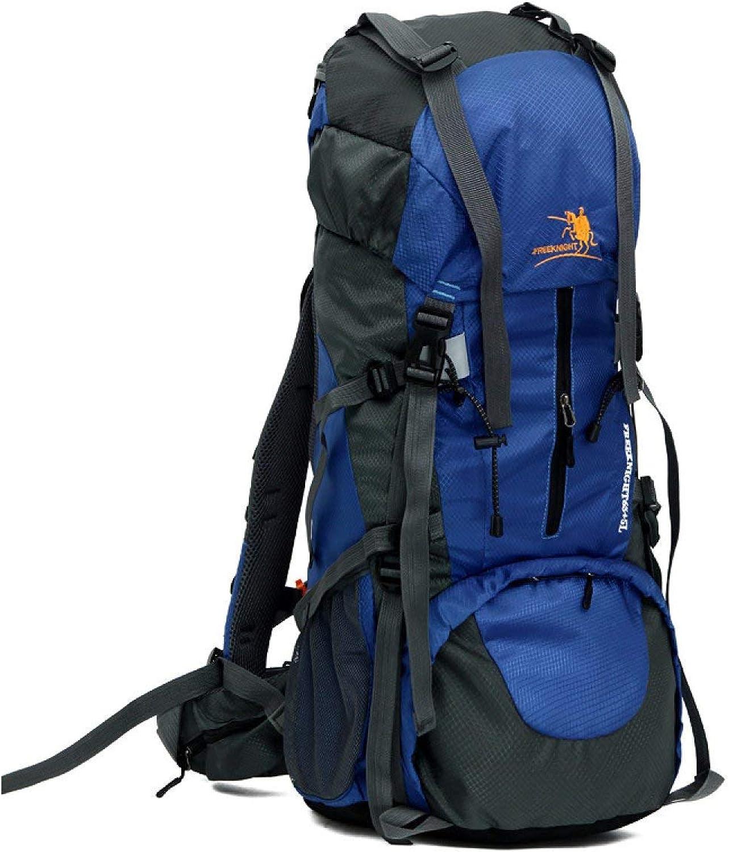 Pingrog 65 5L Wasserdicht Nylon Klettern Rucksack Trekking Rucksack Männer Männer Männer Stilvolle Unikat Casual Trendy Classic Erwachsene Daypacks (Farbe   Blau, Größe   One Größe) B07QNNBHPB  Primäre Qualität b80a6d