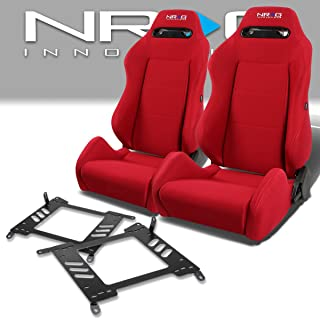 Pair of RSTRLGRD Racing Seats+Mounting Bracket for Nissan Sentra/Maxima