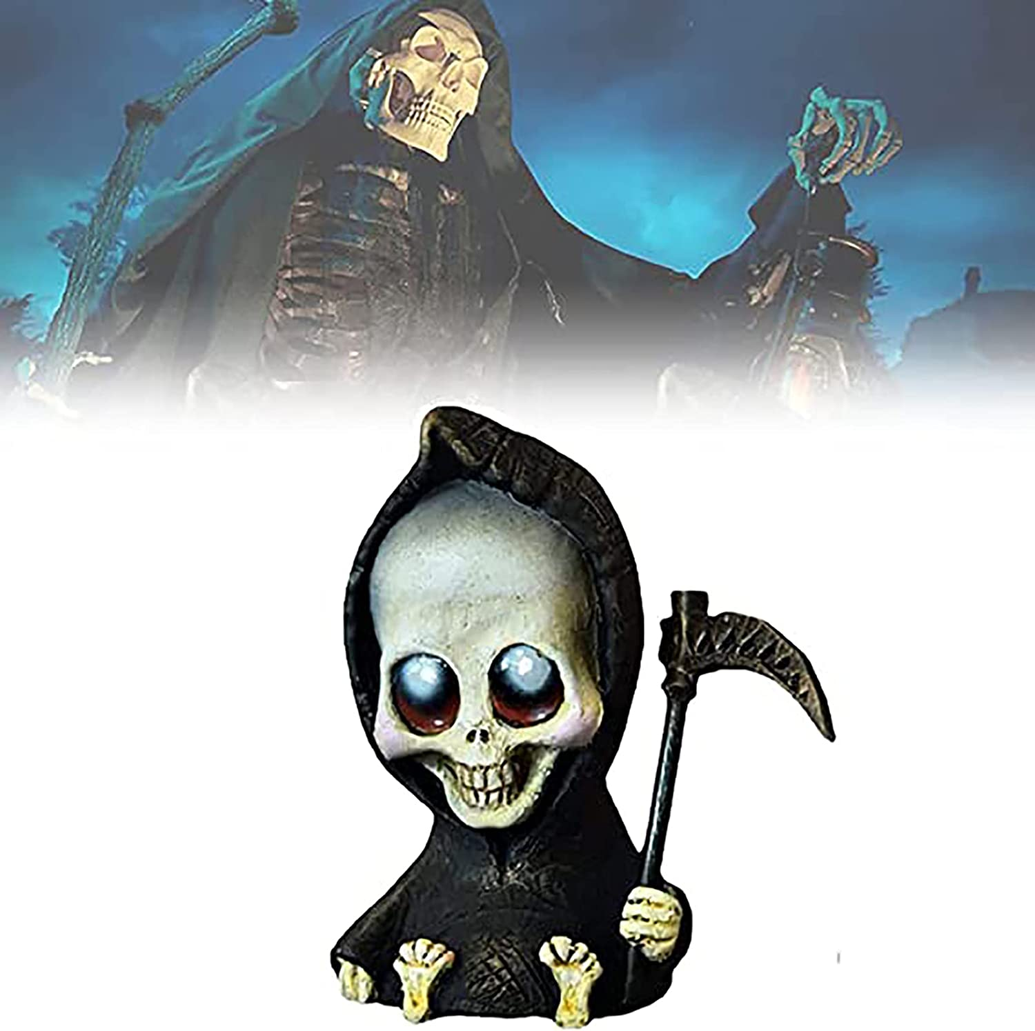 Miniature Grim Reaper excellence Figurines Figurine Scythe with Cheap mail order specialty store Halloween