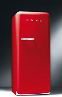 Smeg FAB28URR 50's Retro Style Aesthetic Refrigerator with Freezer Compartment, Red