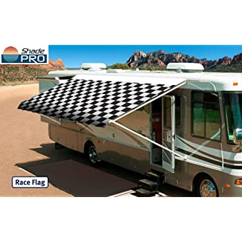 Amazon Com Shade Pro Rv Vinyl Awning Replacement Fabric Checkered Flag 19 Fabric 18 2 Automotive