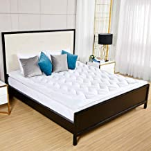 D & G THE DUCK AND GOOSE CO Hotel Plush Mattress Topper, Z Style Down Alternative Fill Quality Bed Topper - Queen Size White