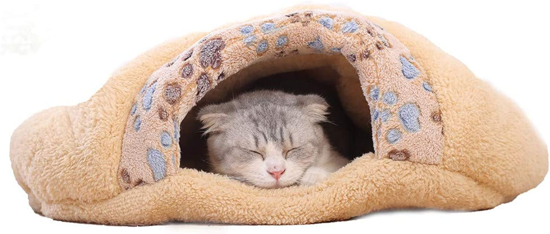 RFVBNM Cat Litter cat Sleeping Bag Four Seasons Universal pet Winter Warm cat House cat Hole mat Closed Small Milk cat Litter,S 55  48  13CM