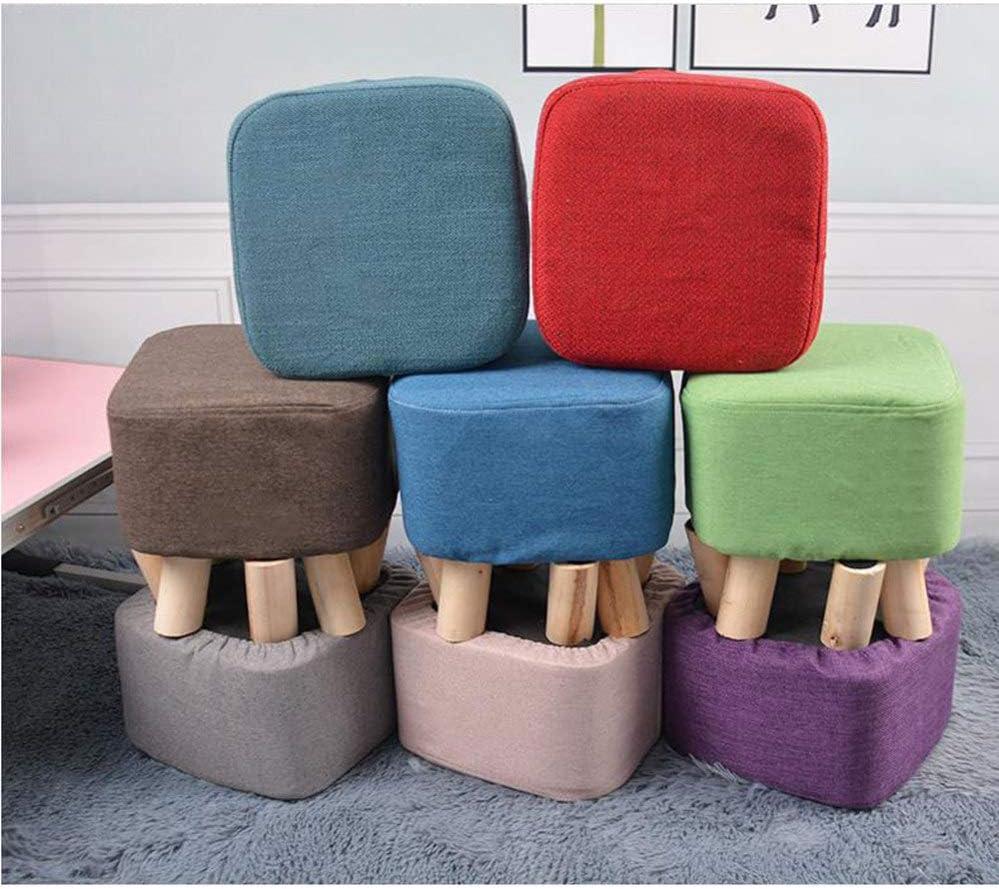 Chaises De Loisirs De Salon avec Style en Bois,Chaises De Salle à Manger,Chaise De Cuisine en Lin Doux,pour Salle à Manger Et Chambre à Coucher,Blue Pink