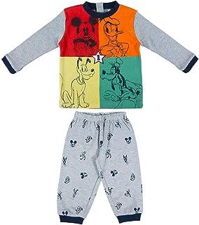 Cerdá - Pijama Largo Bebé de Mickey - Licencia Oficial Disney