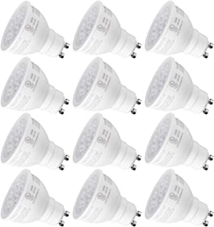 TORCHSTAR MR16 GU10 LED Light Bulb, Dimmable, 7.5W (75W Equivalent), Energy Star, UL-Listed, 5000K Daylight 40° Beam Angle, 600Lm, Track Lighting, Recessed Light, 3 Years Warranty, Pack of 12