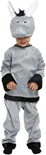 Child's Donkey Xmas Nativity Fancy Dress Costume Animal Kids Age 3 Years Toddler New