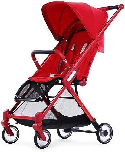 entrega gratis Ultraligero portátil Se Puede sentar y y y mentir Fold Aleación de Aluminio Cuatro Rondas Light Umbrella Car (Color   rojo)  marca en liquidación de venta