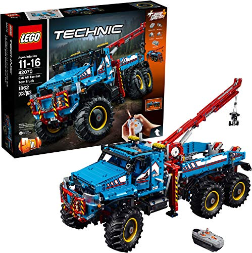 LEGO Technic 6x6 All Terrain Tow Truck 42070 Building Kit.