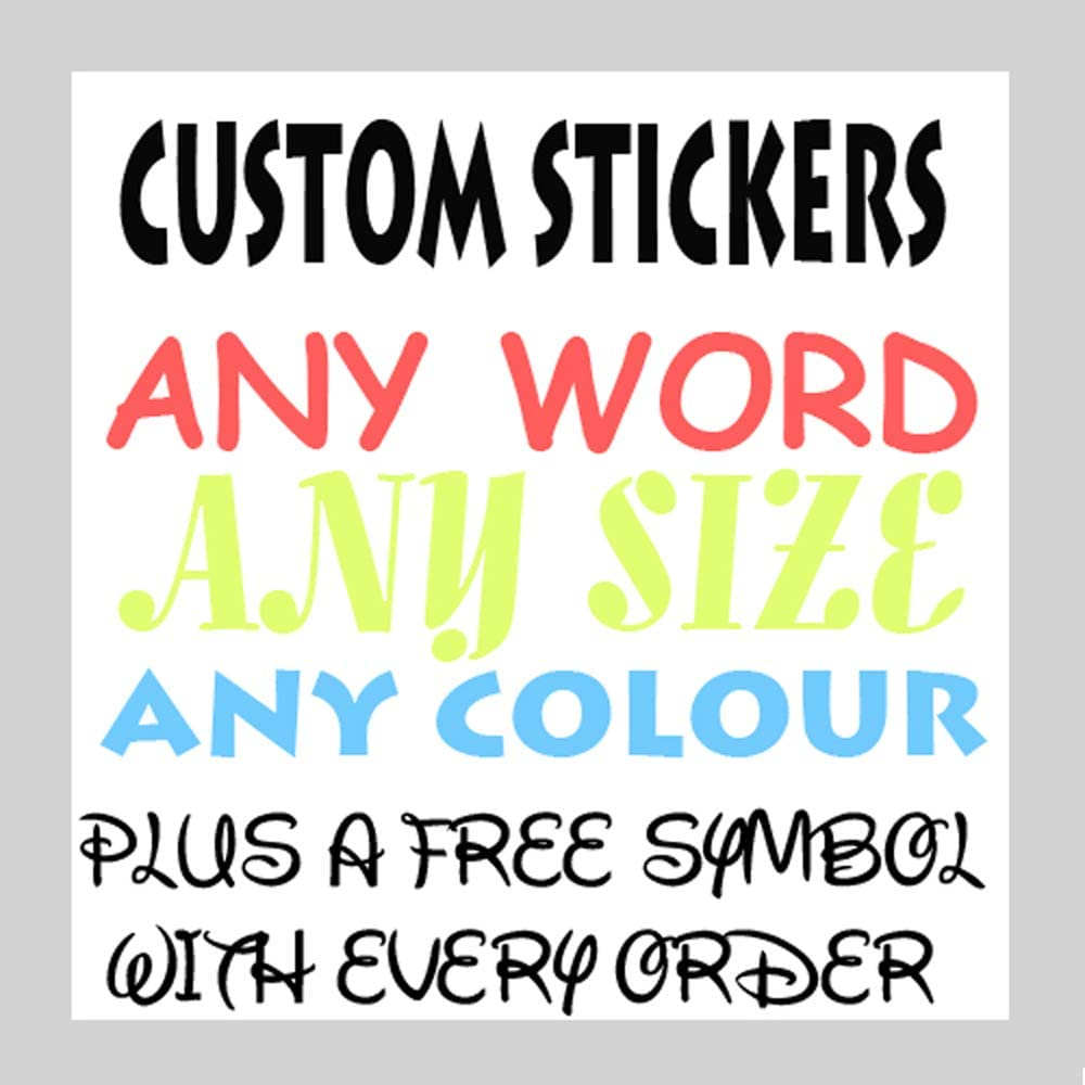Personalised Name Word Letter Vinyl Decal Sticker Car Wall Birthday Card Crafts