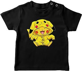 Okiwoki T-Shirt bébé Noir Parodie Pokémon - Pikachu Cosplayé en. Pikachu ! - Imbattable dans Les Concours de Cosplay. :(T...