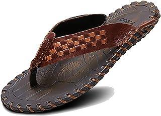 [URLATEST] 牛皮サンダル メンズ おしゃれ ビーチサンダル 本皮 スリッパ 軽い レザーサンダル 滑り止め トングサンダル 歩きやすいサンダル
