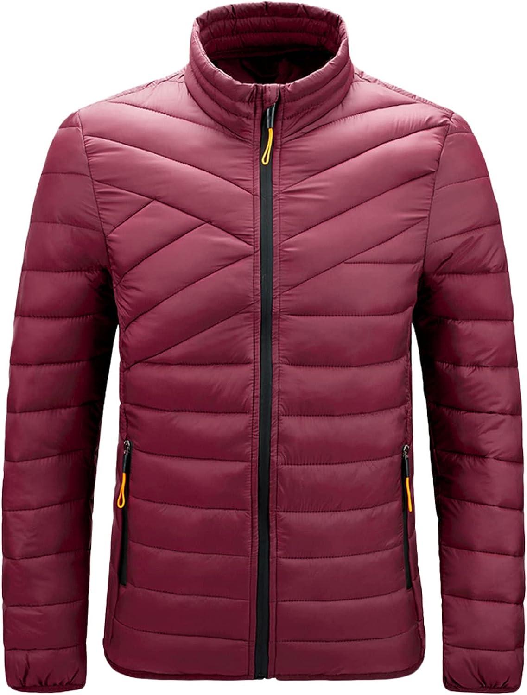 RIZI Mens Winter Coats Warm Down Jacket no Hood for Men Fashion Jackets Puffer Coat Parka Clothes Lightweight Best Cheap 2021