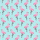 Cretonne Flamingo 3 – türkis — Meterware ab 0,5m —