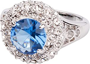 Grace Kelly Collection Ceylon Sapphire and Diamond Crystal Ring
