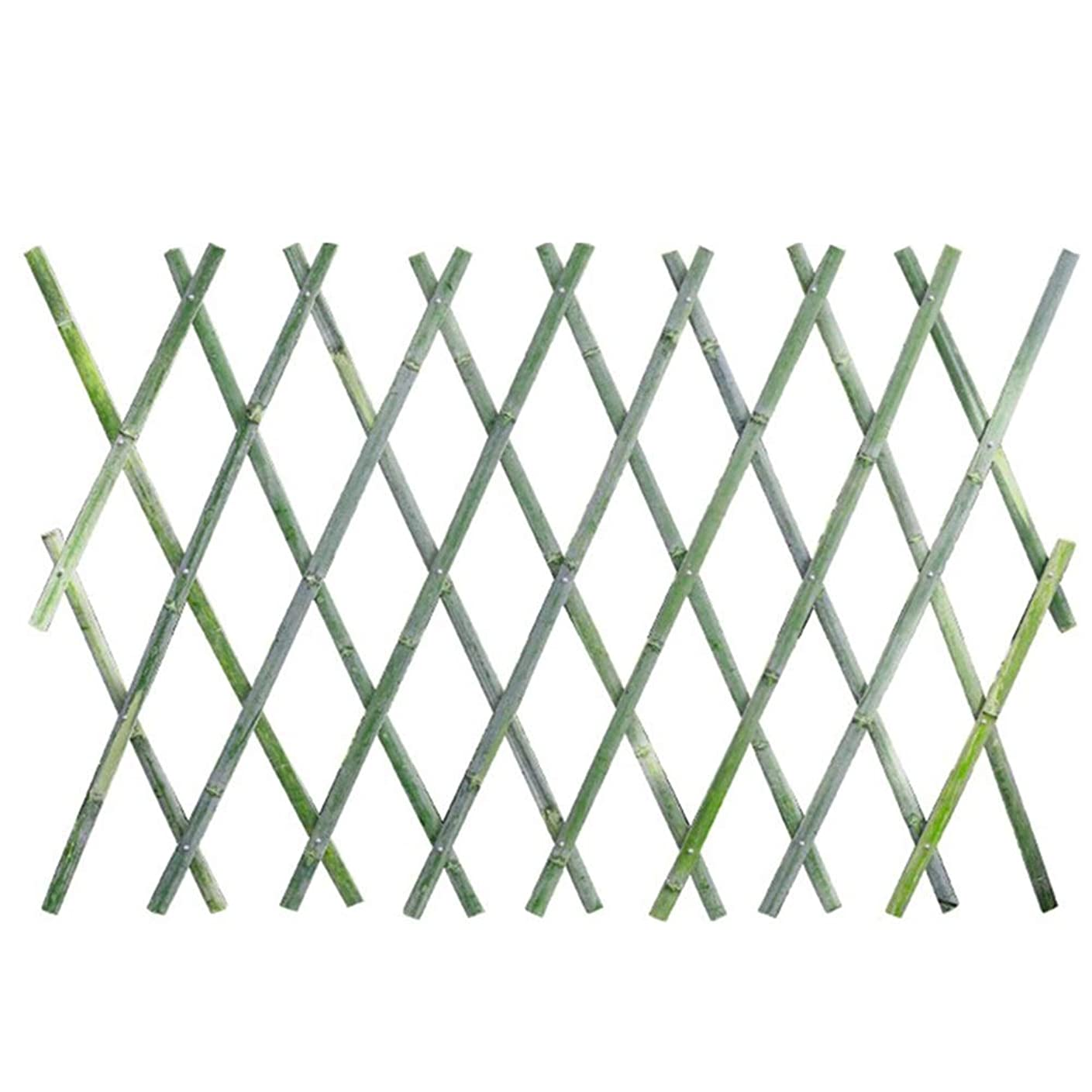 いろいろ文庫本十JIANFEI 木製 ボーダーフェンスフラワーベッドエッジ 竹製フェンス 庭の装飾 拡張可能 防水 、4つのサイズ (Color : Green, Size : 90x180cm)
