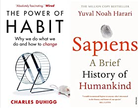 The Power of Habit: Why We Do What We Do, and How to Change+Sapiens: A Brief History of Humankind(Set of 2books)