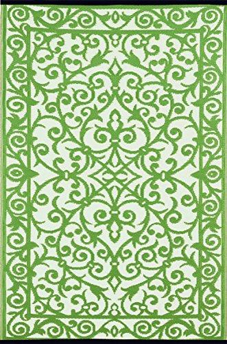 Green Decore Alfombra de plástico, Ligera, para Interior y Exterior, Reversible, Gala, herbolario/Marfil, 120x 180cm