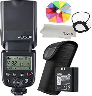 【正規品 技適マーク付き日本語説明書付】Godox VING V850II GN60 2.4G Off Camera 1/8000s HSS フラッシュ スピードライト ストロボ 内蔵 2.4G ワイヤレス X システム 2000mAh Li-ion電池付き Canon Nikon Pentax Olympas デジタル一眼レフカメラ用