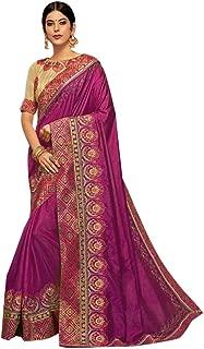 9197 Indian Traditional Fancy Silk Saree Party Wedding Eid Sari Designer Blouse Women