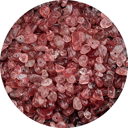 Natural Chip Stone Beads Strawbe...