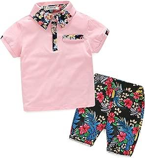 Xiangwu Textitle Baby Boys Short Sets Short Sleeve Plaid Shirts Tops Shorts Pants Summer Outfits