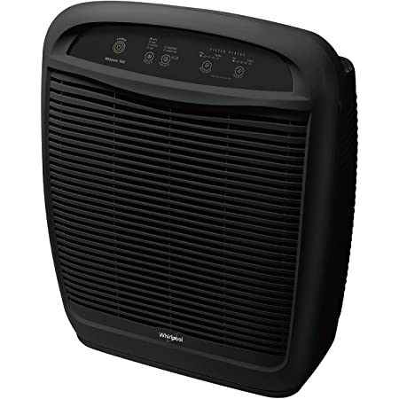 Whirlpool WP500B WP500 Whispure Air Purifier – 490 sq ft Filtration with True HEPA and Carbon Pre-Filter 8171434K, 1183054K. Compact Odor Allergen Eliminator (WP500B-Slate, Large, Slate Black