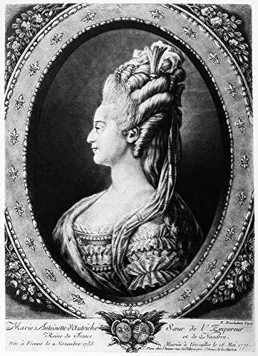 Posterazzi Poster Print Collection Marie Antoinette (1755-1793)./Nqueen of France 1774-1792. Drawing 1775, (18 x 24), Multicolored