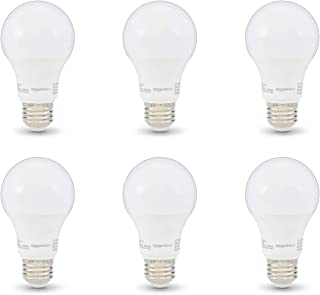 AmazonBasics 40W Equivalent, Soft White, Non-Dimmable, 10,000 Hour Lifetime, A19 LED Light Bulb | 6-Pack