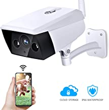 Outdoor Security Camera, KAMTRON Wireless IP Camera 2.4G WiFi 1080P IP66 Waterproof Night Vision Surveillance System with Motion Detection, Encryption Cloud Storage, Two-Way Audio - iOS, Android App