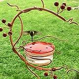 DHGTEP Comedero para Pájaros de Patio, Comedero para Colibríes, Comedero de Agua para Mascotas de Tipo Casero, Herramientas de Alimentación para Mascotas de Jardín (Color : Red)