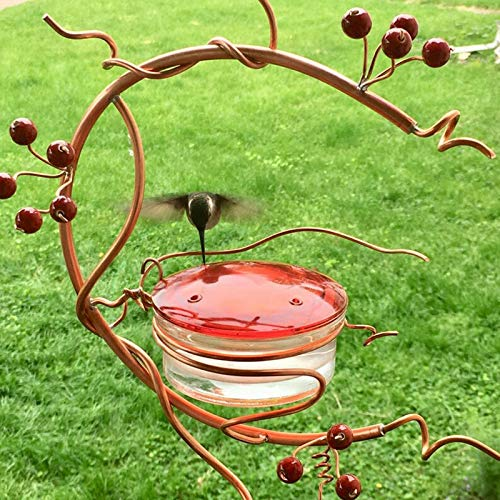 Products Hanging Outdoor GardenHummingbird Bird Feeder Outside Wild Bird Feeders Red Berries Feeding Station for Birds Courtyard bird feeder For Rustic Garden Decorations & Outdoor Ornaments