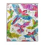 MyDaily Aquarell-Duschvorhang Papageien, 152,4 x 182,9 cm, schimmelresistent & wasserfest, Polyester-Dekoration für Badezimmer
