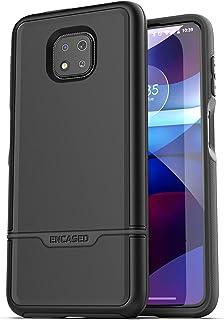 Encased Rebel Series for Moto G Power 2021 Case Military Grade Full Body Rugged Cover (Motorola G Power) Black