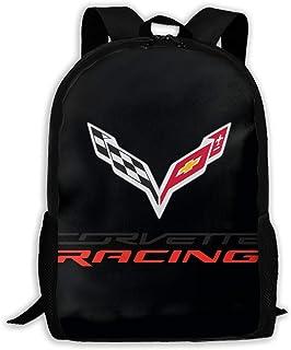 GONIESA Motto Corvette Racing Drawstring Bag,Drawstring Backpack,Sport Bag