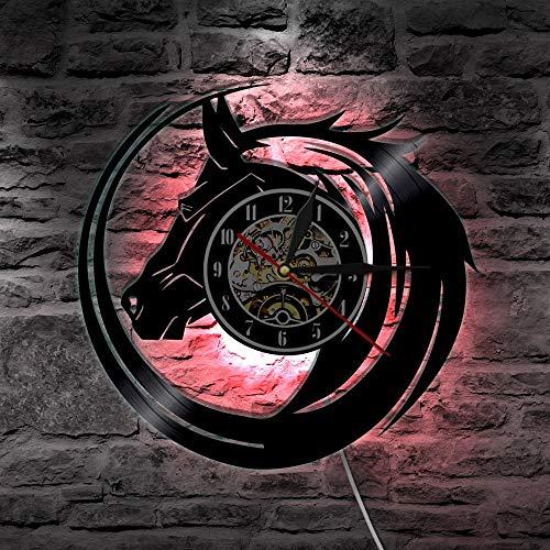 Jiushixw Hippie Schedel Design LED wandlamp antieke wandlamp Halloween Party levert unieke decoratie wandklok cadeau