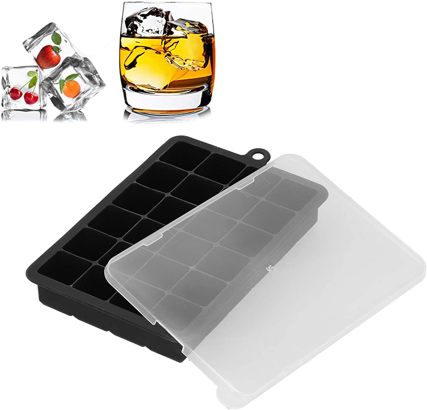 Quality inspection shipfree Ice Cubes Box Maker Silicone Mold Tray