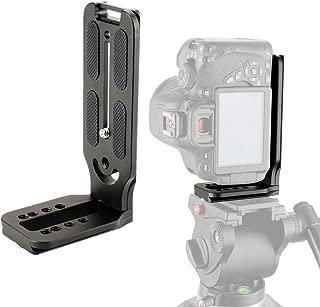 Video Vertical Shooting L Bracket for DSLR Camera Tripod Head Quick Release Plate Arca Swiss Compatible with Nikon D750 D3400 D850 Z7 D7500 Sony A7iii A7ii A6500 A6000 A6300 Canon 5d Mark 80d 6d 70d