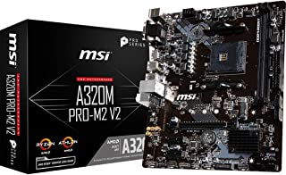 MSI A320M Pro-M2 V2 - Placa Base (Chipset AMD A320, DDR4 Boost, Realtek LAN, Audio Boost, HDMI, X-Boost, soporta AMD pocesadores) color negro