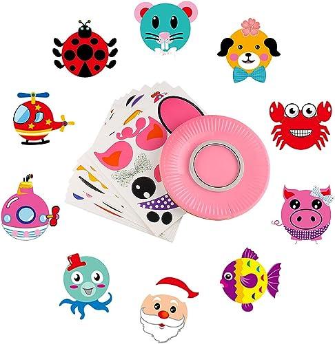 popular Larcele online sale Paper Plate Sticker Kids DIY Creative Paper Craft high quality 10Pieces/Set ZPTH-01 (Style C) outlet sale