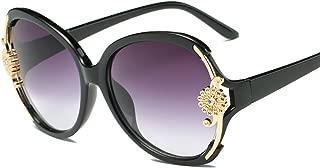 ladies big box style Fashion metal flowers sunglasses