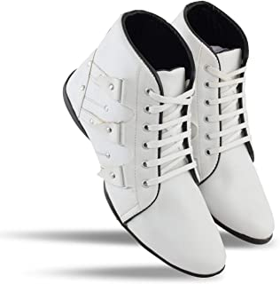 d72e1302ca7ad White Men's Boots: Buy White Men's Boots online at best prices in ...