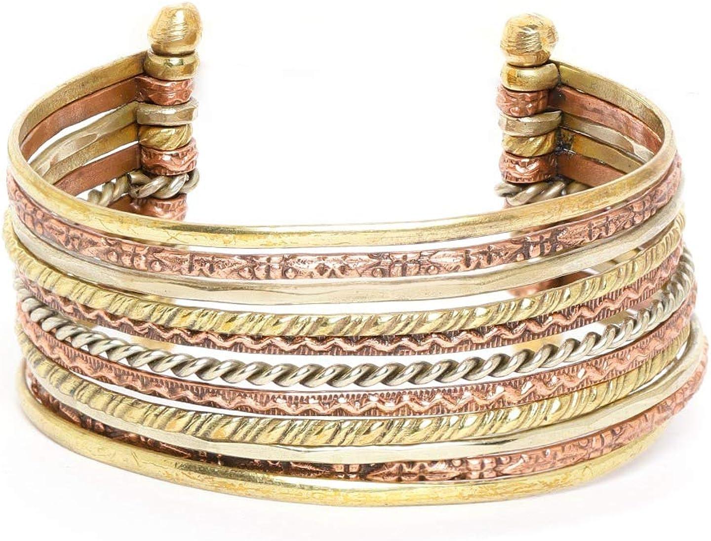 RICHERA Copper-Toned  Silver-Toned Antique Gold-Plated Cuff Bra