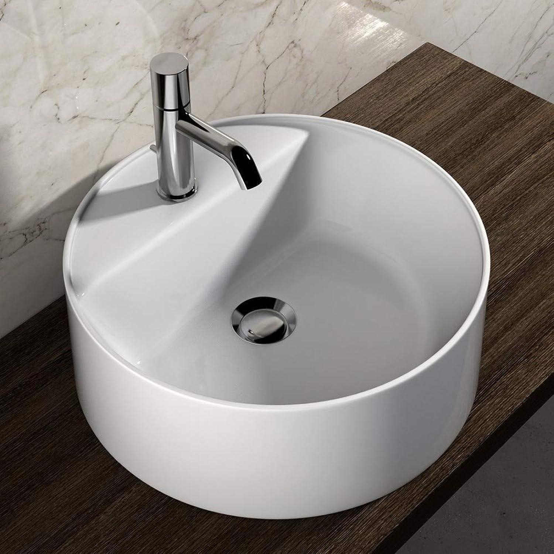 Olympia Ceramica Waschbecken für Einlochmontage rund 45