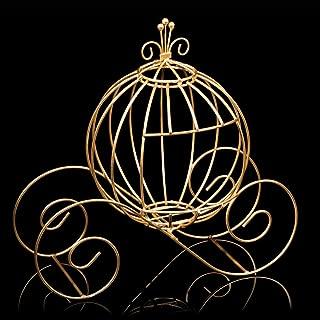Gold Wire Cinderella Coach Centerpiece, 12 Inches