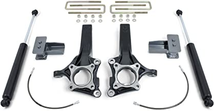 MaxTrac Suspension Lift Kit w/Shocks 4 in. Front 2 in. Rear Lift Incl. Front Lift Spindles w/Brake Line Ext Rear Blocks w/U-Bolts Rear MaxTrac Shocks Supersedes PN K883142