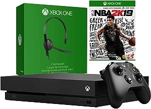 Microsoft Xbox One X 1TB Console with Chat Headset & NBA 2k19 Bundle (Renewed)