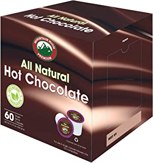 Mountain High All Natural Hot Chocolate K Cups 2.0 Compatible (Milk Chocolate, 60)