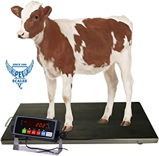 PEC Scales 700lbs Vet Animal Scale/Livestock Scale, Digital Weighing Equipment for Small to Medium Sized Animals Calf/Goat/Sheep/Pigs/Dogs/Cat or Pets (44″ x 22″ x 2″)